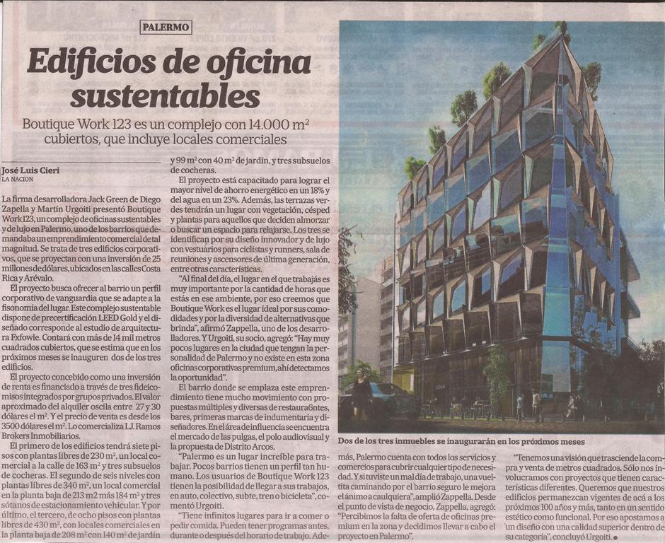 La Nación- Edificios de oficina sustentables