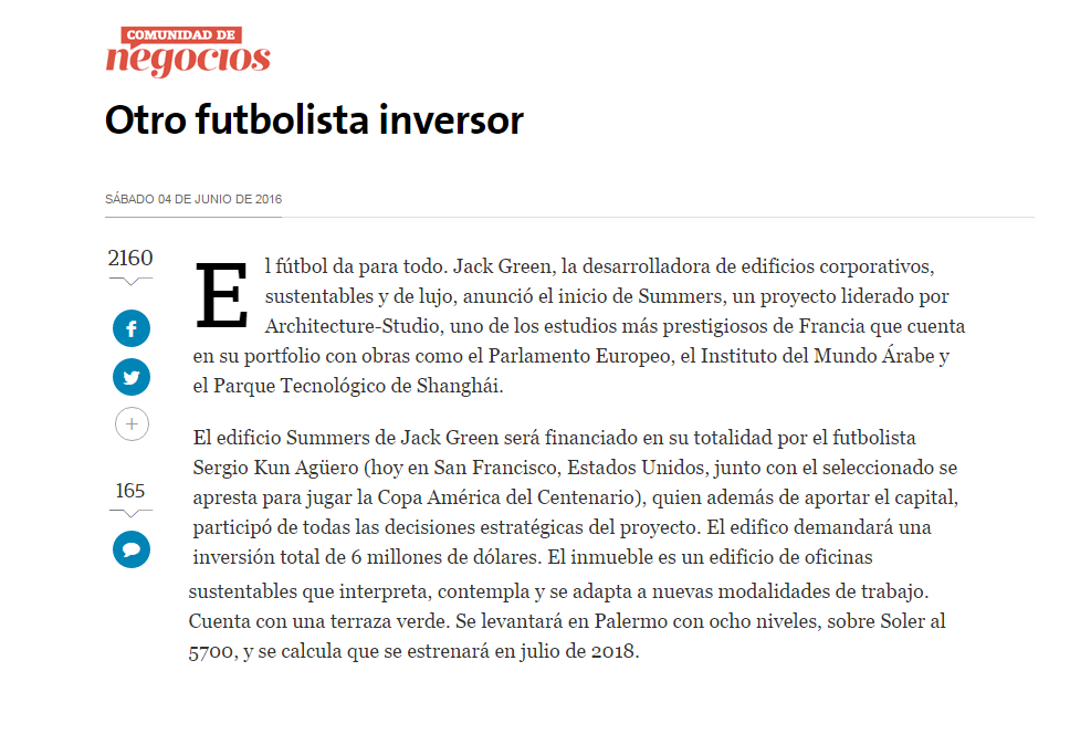 04-06-2016-La Nación-Otro futbolista inversor