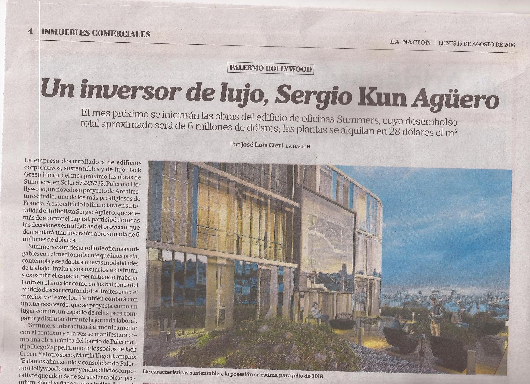 15-08-2016-La Nación- 1)Del fútbol al Real Estate