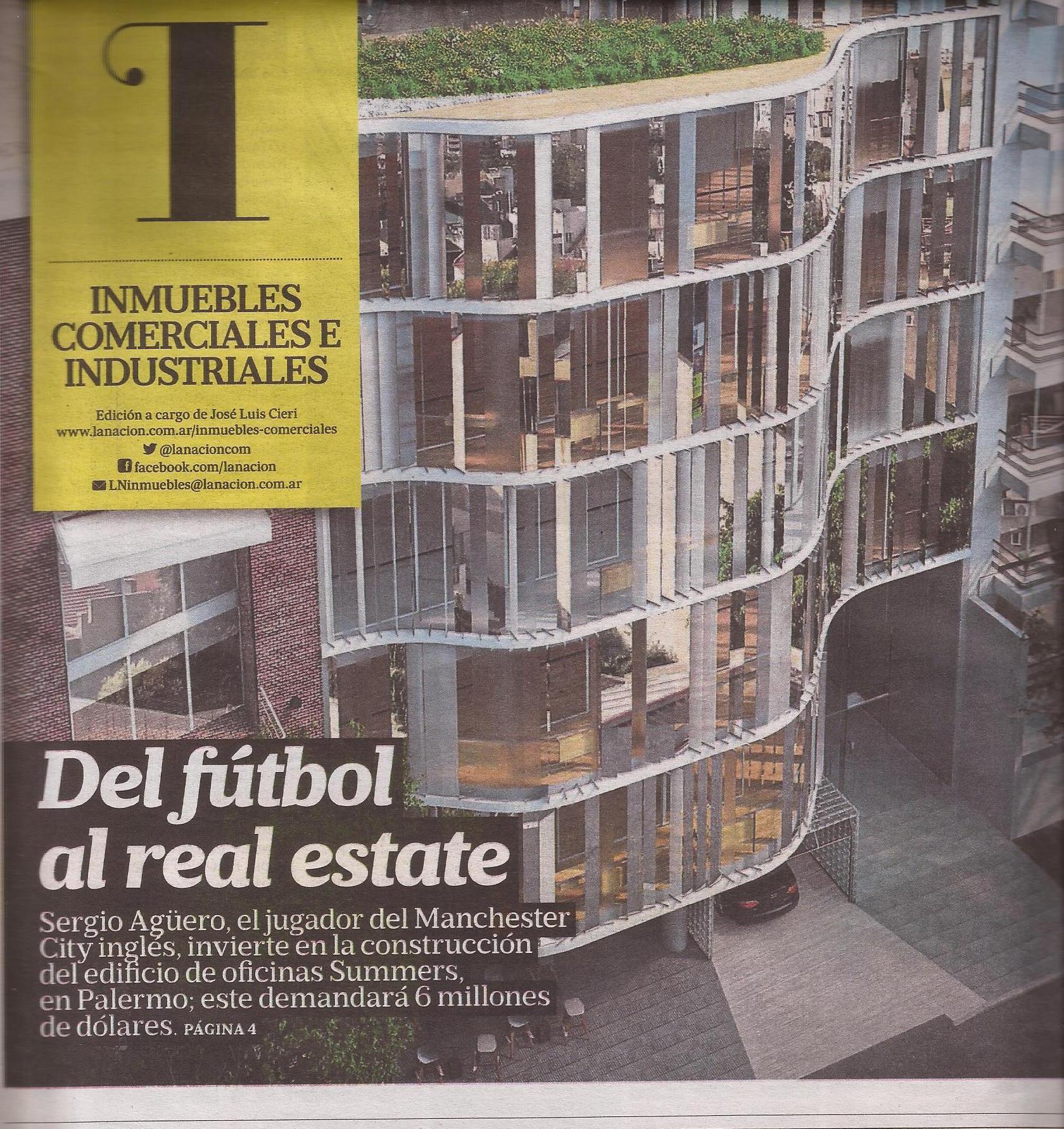 15-08-2016-La Nación-Del fútbol al Real Estate